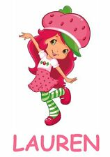 *****STRAWBERRY SHORTCAKE*** PERSONALIZED****FABRIC/T-SHIRT IRON ON TRANSFER
