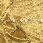 "Dark Gold Crushed Panne Velour Velvet 2 Way Stretch Fabric 58""W By Yard"