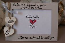 Personalised Photo Frame by Filly Folly! New Baby 1st Scan Christening Gift!