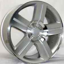 24 INCH SILVER CHEVY TEXAS EDITION RIMS WHEELS AND TIRES TAHOE SILVERADO SIERRA