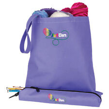 ARTBIN KNITTING NEEDLE ARTS TOTE with pouch yarn wool bag hooks