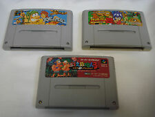Joe y Mac 1 2 3 Super Famicom Snes Japón Tatakae GENSHIJIN