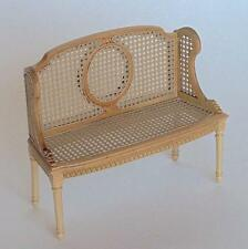 MINIATURE DOLLHOUSE 'ODETTE' CANE BENCH BY MARITZA BESPAQ-MM 015 KW