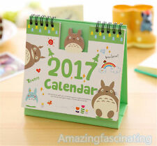 2017 Calendar Totoro Cartoon Desk Desktop Flip Stand Office Schedule Planner