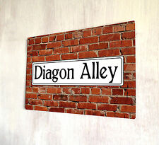 Harry Potter Diagon Alley Street Sign V2 movie film A4 metal plaque