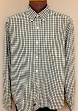 Mens Abercrombie And Fitch Shirt Green Checks Large  Long Sleeve Nice !