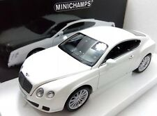 2008 BENTLEY CONTINENTAL GT WHITE 1/18 MODEL CAR BY MINICHAMPS 100139621