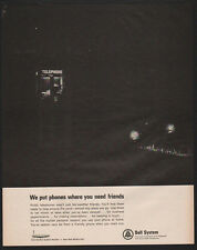 1965 BELL SYSTEM Telephone - We Put PayPhones Where You Need Friends  VINTAGE AD