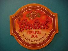 Beer Coaster Mat: GROLSCH Bierbrouwerij Herfst Bok ~*~ Enschede, The Netherlands