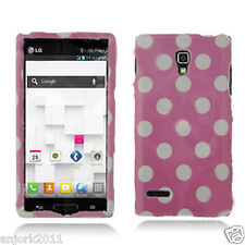 LG Optimus L9 T-Mobile P769 Snap-On Case Cover Accessory Pink White Polka Dots