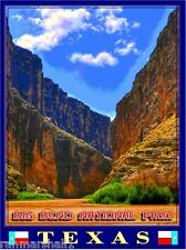 Big Bend National Park Texas United States Travel Poster Art Advertisement