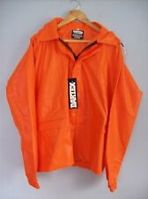 Jacket Dartex 28 in Long Waterproof Rain Jacket & Hood Orange X Large New + Tags