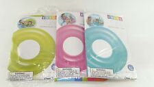 "2 x Intex 59260 30"" Inch Transparent Water Swim Ring Pool Float Tube Inflatable"
