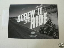 D876 BROCHURE HARLEY-DAVIDSON PRICELIST 2016 DUTCH 6 PAGES SCREW IT BIKES