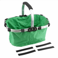 Leisure Folding Metal Frame Reusable Shopping Tote Bag Basket Environmental QK
