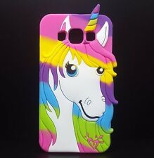 For Samsung Galaxy A5/E5/J5 - SOFT RUBBER SILICONE CASE COVER RAINBOW UNICORN