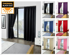 BLACKOUT CURTAINS EYELET RING TOP  FREE TIE BACKS