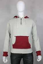 Ralph Lauren polo hoodie sweatshirt M distressed 2-tone red gray cotton retro