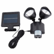 Solar LED Security Motion PIR Sensor Light Dual Outdoor Garden Floodlight Spot