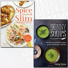 Skinny Soups Recipes Collection Spice Yourself Slim 2 Books Set Weight-Loss NEW