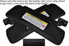 BLACK STITCHING 2X SUN VISORS LEATHER SKIN COVERS FITS MERCEDES SLK R171 04-11