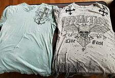 Affliction mens large tshirt lot
