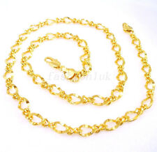 24K Yellow Gold Plated Women Wife Girl Pub Shining Sparkle Chain Necklace