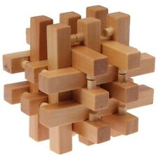 Intelligence Wooden Wood 3D IQ Puzzle Brain Teaser Magic Cube Toy Gift