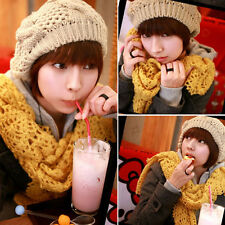 1PCS Winter Fashion Warm Women Ladies Beret Braided Baggy Beanie Hat Ski Cap