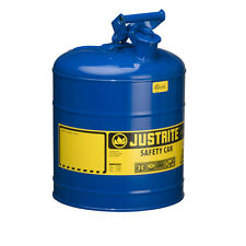 Justrite® 7150300 Type I Galvanized Steel Safety Can, Blue, 5 Gallon Capacity