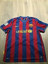 Barcelona Home Shirt 2009/10 X-Large Messi 10 Official Rare