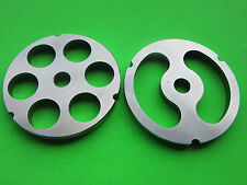 "#32 x 1"" & Stuffing disc Meat Grinder Plates for Hobart LEM Cabelas Biro etc"
