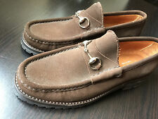 NEW WOMEN'S GUCCI SUEDE HORSEBIT LOAFERS SHOES  8