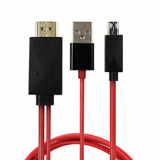 MHL Micro USB to HDMI 1080P HD TV Cable Adapter For Universal Android Phones Red