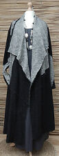 LAGENLOOK*Bane'*OVERSIZE AMAZING QUIRKY 2 POCKETS COAT*BLACK/GREY MARL*Size XXL