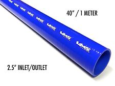 """40"""" VMS RACING 3 PLY REINFORCED STRAIGHT SILICONE COUPLER HOSE 2.5"""" BLUE"""