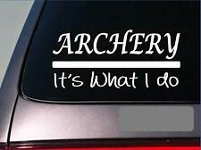 Archery sticker decal *E262* bow arrow broadhead target bullseye deer stand 2a