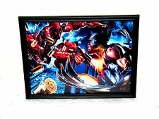 Marvel Deadpool Vs. Wolverine XMen Framed Photo 8.5x11 Wall Poster Mancave Decor