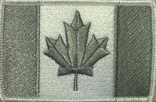 CANADA Flag Patch With VELCRO® Brand Fastener Gray & White White Border #15