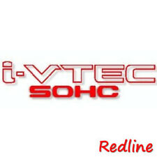 """High Quality 9.25''x2'' Set of 2 """"SOHC Vtec"""" Racing Decal Sticker -Red Color"""