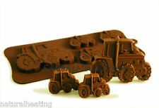 TRACTOR Vehicles Car Boys Chocolate Silicone Bakeware Mould Candy Cake Mold Tin