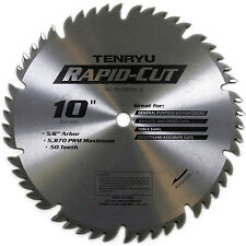 Tenryu RS-25550-2 10-Inch, 50T Multi-Purpose Table Miter Saw Blade