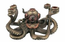 Steampunk Octopus Candelabrum Statue Sculpture Figure  - New in Box