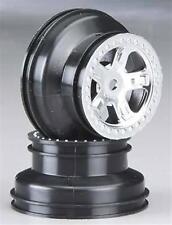 Traxxas 1/16 Scale Satin Chrome Dual Profile SCT Wheels