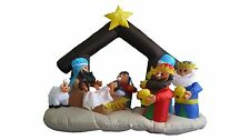 Lighted Christmas Inflatable Nativity Scene Indoor Outdoor LED Lights Decoration