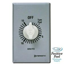 Intermatic FF15MC Swimming Pool 15-Minute Spring Loaded Wall Timer