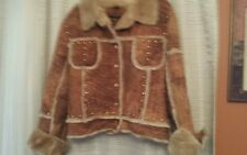 Baby Phat Genuine Leather Shearling Brown Size 2XL
