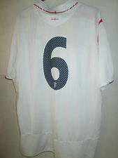 2005-2007 England  Home Football Shirt Size XL no 6 on the rear/9598