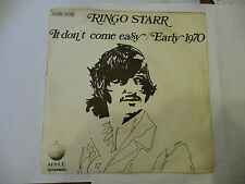 "RINGO STARR(BEATLES)""IT DON'T COME EASY-disco 45 giri APPLE Italy 1971"""