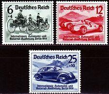 Deutsches Reich 1939 ** Mi.686/88 Automobile VW Benz, Höchstwert gepr. [sq2210]